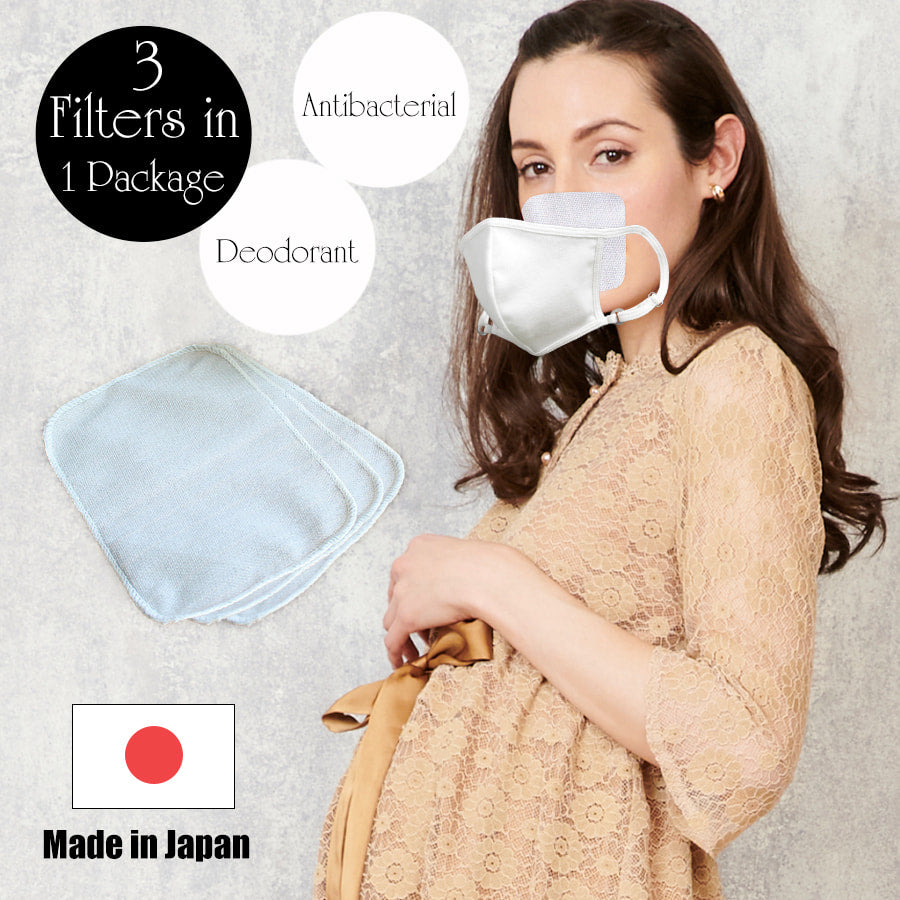 [MADE IN JAPAN] Sweet Mommy Original 3 Antibacterial Silver Fiber Washable Mask Filters