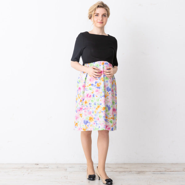 Maternity and Nursing Floral Pattern Dress