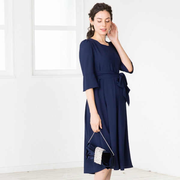 Maternity and Nursing Tuck Pleat Dress
