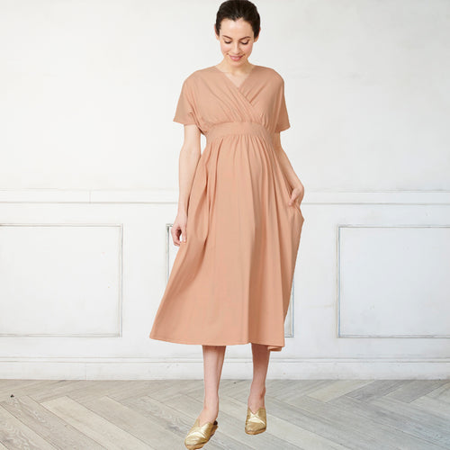 Maternity and Nursing Midi Home Wear Dress/Nightie