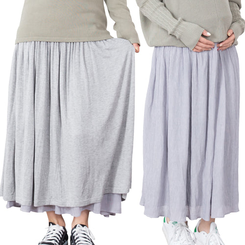 Maternity Maxi Reversible Skirt