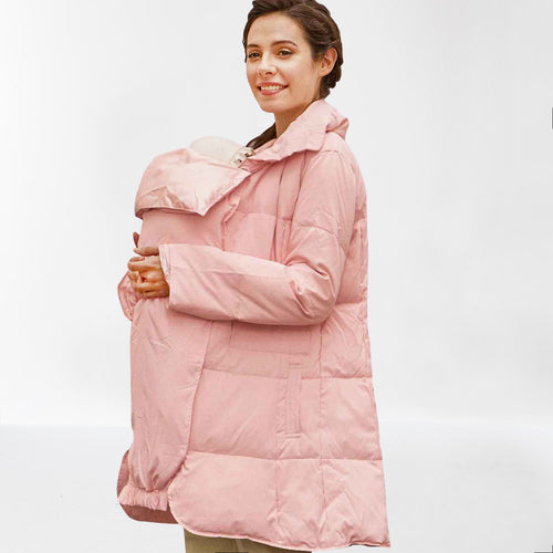 Sweet Mommy Maternity Down Coat with Removable Baby Panel