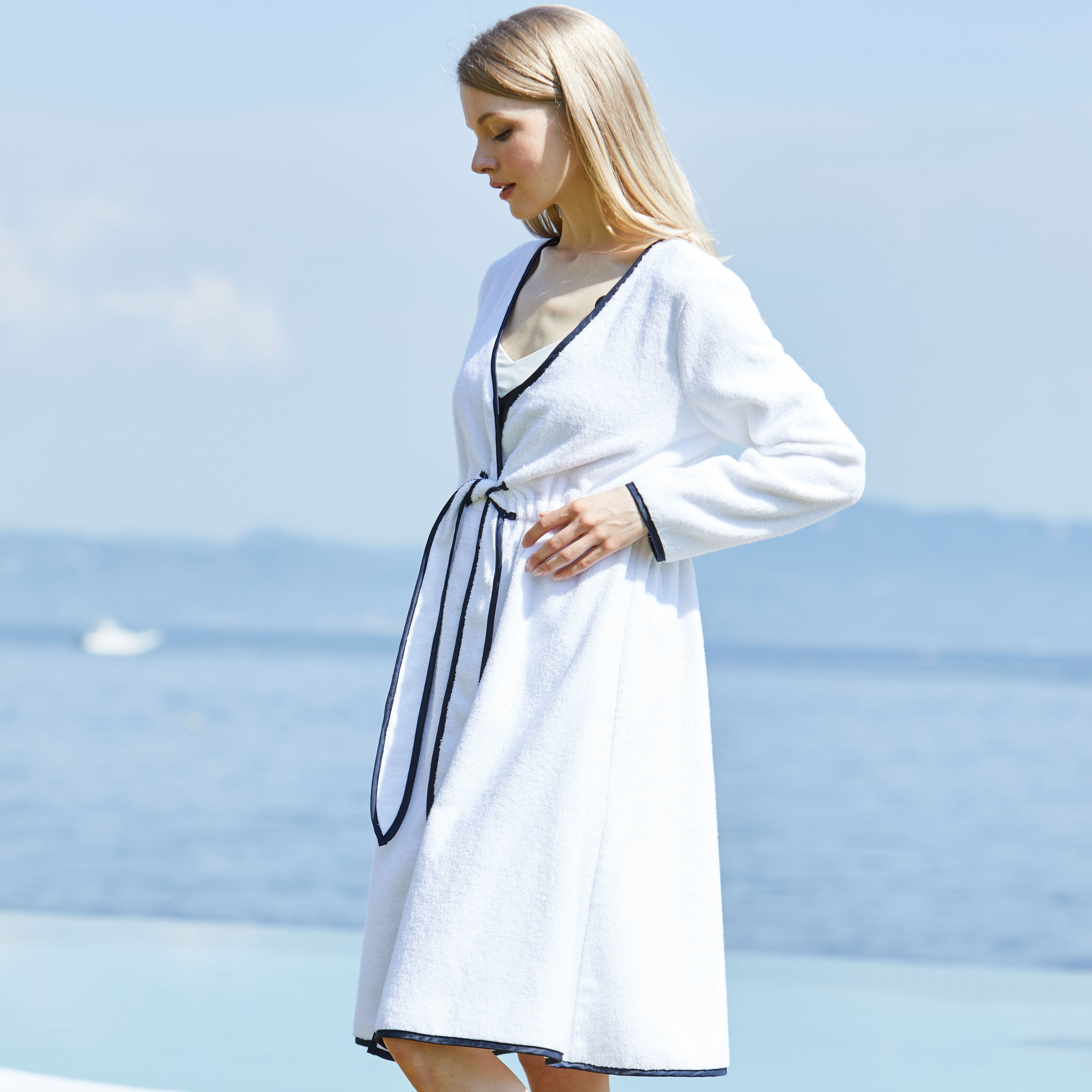 Maternity and Nursing 100% Organic cotton Gown/Bathrobe