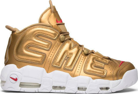 Supreme X Air More Uptempo Metalic Gold 902293 700 size 8.5, 10