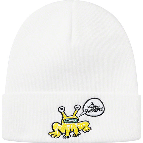 SUPREME DANIEL JOHNSTON BEANIE WHITE SS20