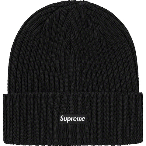 SUPREME OVERDYED BEANIE BLACK SS21