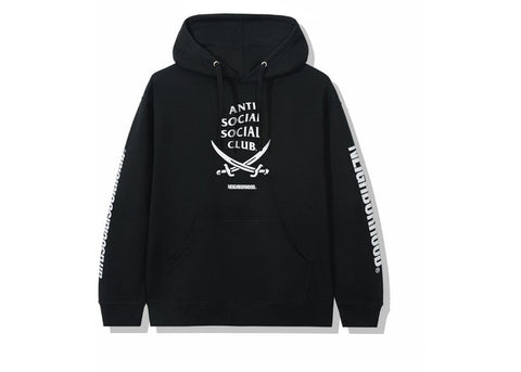 ASSC X NEIGHBORHOOD 6IX BLACK HOODIE BLACK SIZE S, M, L, XL, XXL