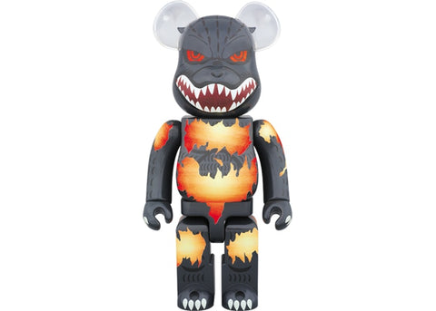 BEARBRICK GODZILLA (DEATH GOJI BURNING VER.) 400% BLACK