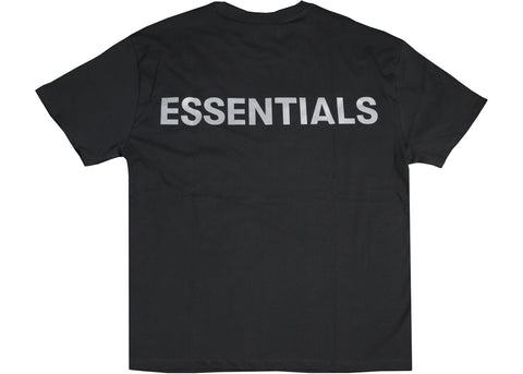 FEAR OF GOD ESSENTIALS 3M BOXY TEE  BLACK SIZE XS, S, M, L