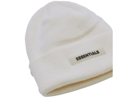 FEAR OF GOD ESSENTIALS BEANIE WHITE