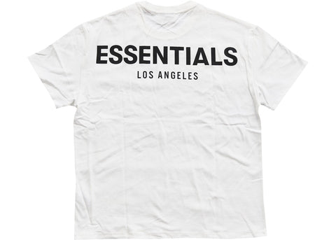 FEAR OF GOD ESSENTIALS LOS ANGELES 3M BOXY T-SHIRT WHITE SIZE S