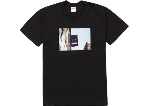 SUPREME BANNER TEE BLACK FW19 SIZE M