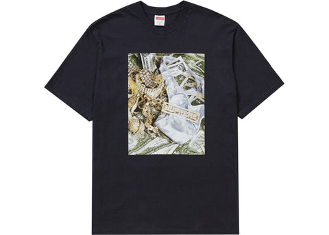 SUPREME BLING TEE NAVY SS20 SIZE M, L