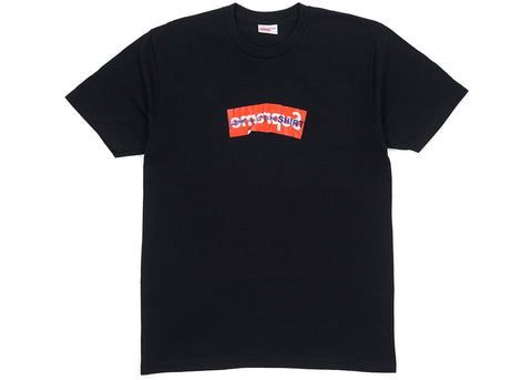 SUPREME CDG BOX LOGO TEE BLACK SS17 (PRE-OWNED) SIZE M