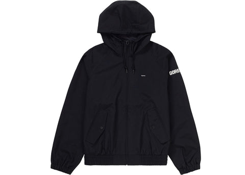 SUPREME GORE-TEX HOODED HARRINGTON JACKET BLACK SIZE M