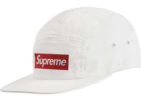 SUPREME HOLOGRAPHIC LOGO CAMP CAP WHITE