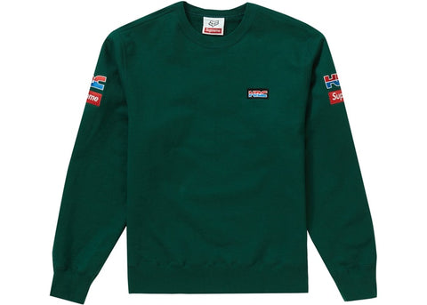 SUPREME HONDA FOX CREWNECK RACING GREEN FW19 SIZE M