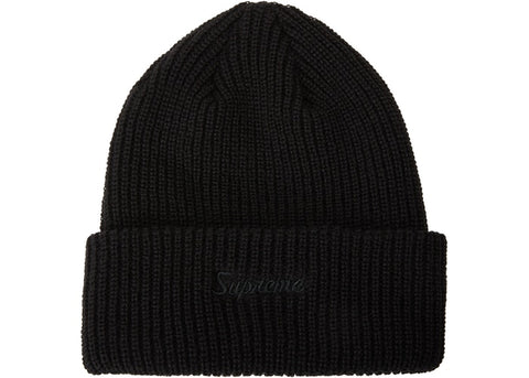 SUPREME LOOSE GAUGE BEANIE BLACK FW19