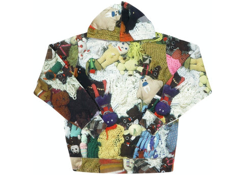 SUPREME MIKE KELLEY MORE LOVE HOURS THAN CAN EVER BE REPAID HOODED SWEATSHIRT MULTICOLOR FW18 (PRE-OWNED) SIZE M