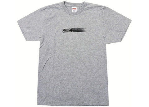 SUPREME MOTION LOGO TEE GREY (PRE-OWNED) SIZE S