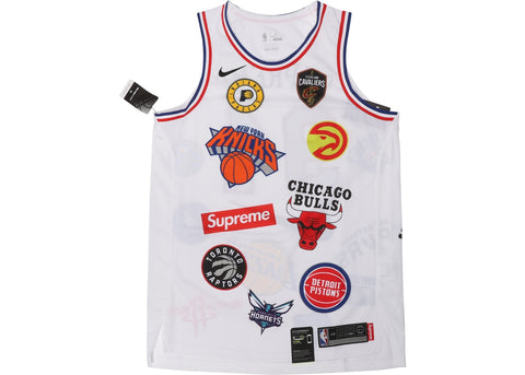 SUPREME NIKE NBA TEAMS AUTHENTIC JERSEY WHITE SIZE S, M, L, XL