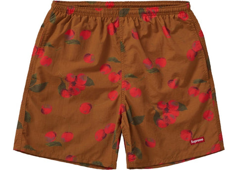 SUPREME NYLON WATER SHORT BROWN CHERRY SS19 SIZE S