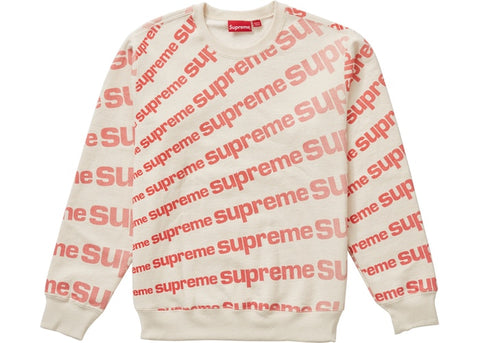 SUPREME RADIAL CREWNECK NATURAL SS20 SIZE M
