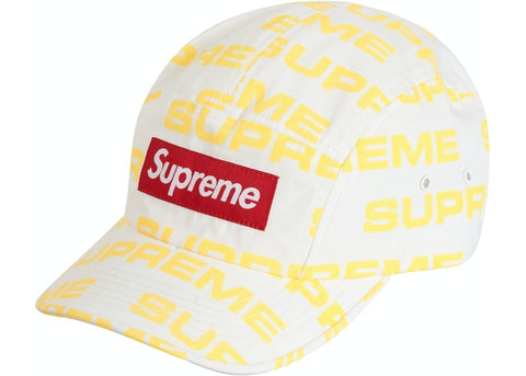 SUPREME REACTIVE PRINT CAMP CAP WHITE FW20