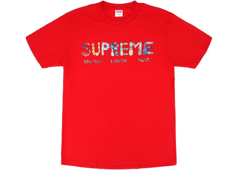 SUPREME ROCKS TEE RED SIZE S, L