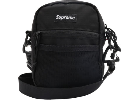 SUPREME SHOULDER BAG BLACK SS17 (PRE-OWNED)