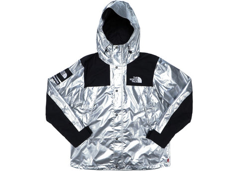 SUPREME THE NORTH FACE METALLIC MOUNTAIN PARKA SILVER SS18 (PRE-OWNED) SIZE M