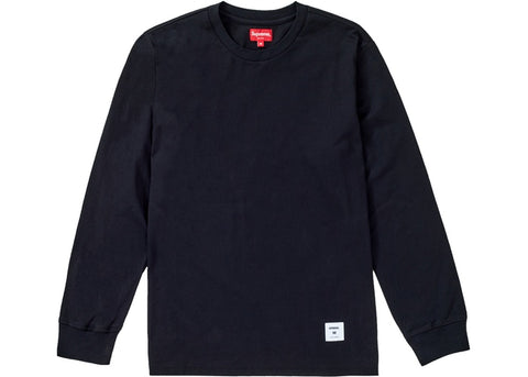 SUPREME TRADEMARK L/S TOP BLACK FW19 SIZE M