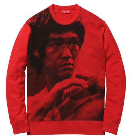 SUPREME BRUCE LEE CREWNECK RED (PRE-OWNED) SIZE S