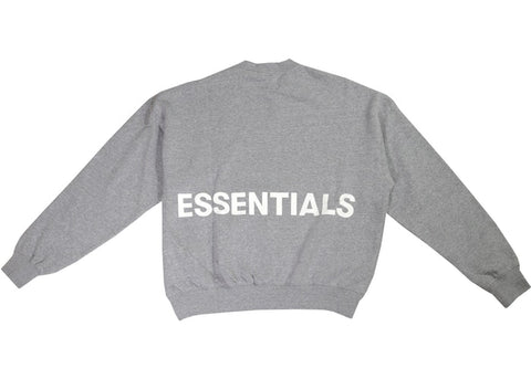 FEAR OF GOD ESSENTIALS CREWNECK SWEATSHIRT GREY SIZE L