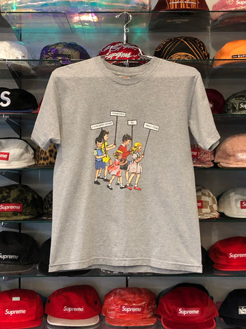 SUPREME PLEDGE OF ALLIGENCE TEE GREY (PRE-OWNED) SIZE M