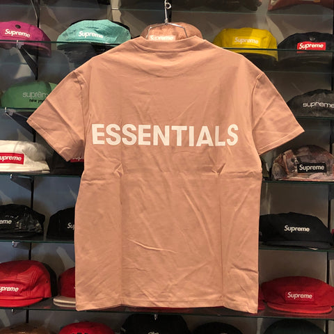 FEAR OF GOD ESSENTIALS LOGO BOXY TEE BLUSH SIZE XXS, XS, S, M, L, XL