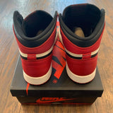 JORDAN 1 RETRO HIGH BRED TOE GS (PRE-OWNED) 575441610 SIZE 4.5Y