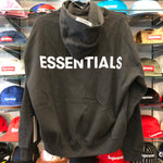 FEAR OF GOD ESSENTIALS 3M LOGO BOXY HOODIE BLACK SIZE S, M