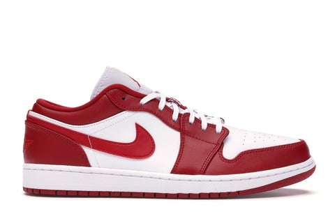 JORDAN 1 LOW GYM RED WHITE 553558611 SIZE 8.5