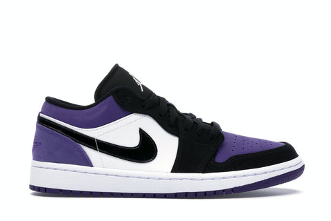 JORDAN 1 LOW COURT PURPLE 553558125 SIZE 9