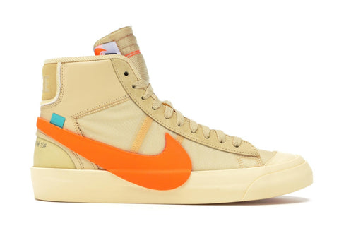 OFF WHITE NIKE BLAZER ORANGE AA3832700 SIZE 8.5, 9