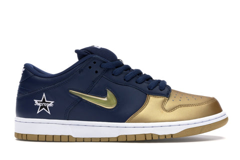 NIKE SB DUNK LOW SUPREME JEWEL SWOOSH GOLD CK3480700 SIZE 11