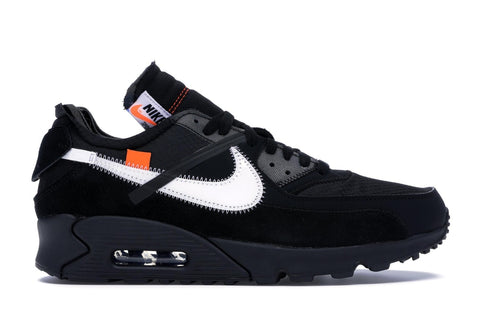 OFF-WHITE AIR MAX 90 BLACK AA7293001 SIZE 8.5, 12