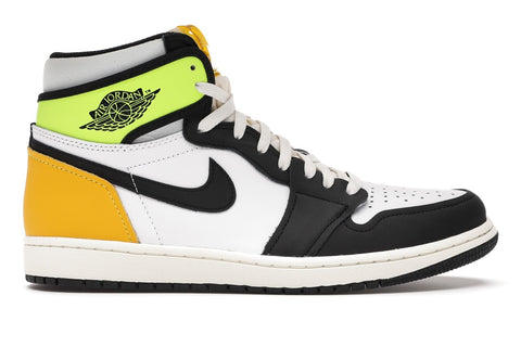 JORDAN 1 RETRO HIGH WHITE BLACK VOLT UNIVERSITY GOLD 555088118 SIZE 9