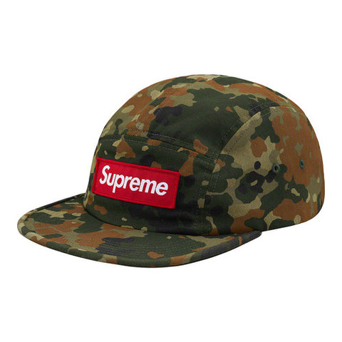 SUPREME MILITARY CAMP CAP OLIVE GERMAN CAMO