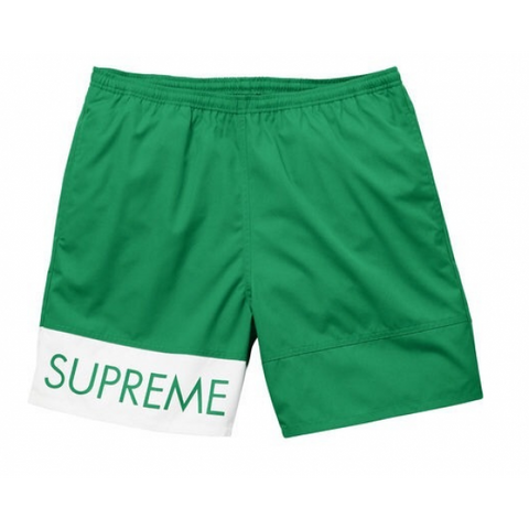 SUPREME BANNER WATER SHORT GREEN (PRE-OWNED) SIZE XL