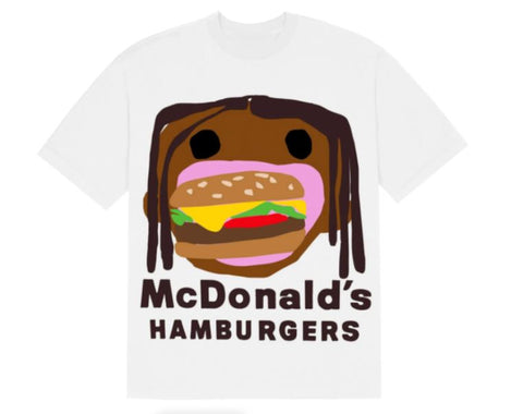 TRAVIS SCOTT X CPFM 4 CJ BURGER MOUTH TEE WHITE SIZE XXL