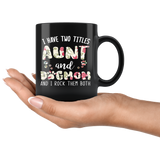 I Have Two Titles Aunt And Dog Mom Mugs