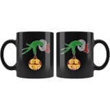 Be Kind Grinch Hand Holding Christmas Mugs