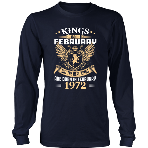 Kings Legends Are Born In February 1972 T-Shirt